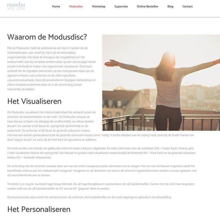 Website & onderhoud Mascha van Dam