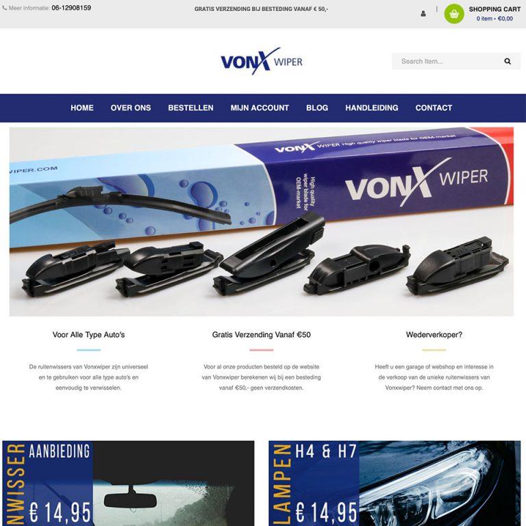Website & onderhoud Vonxwiper.nl
